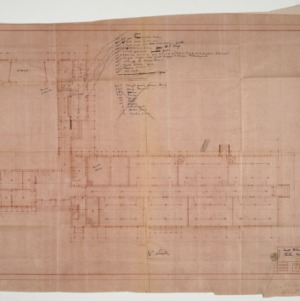 Floor plan and notes on kitchen