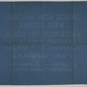 Central High School project title page