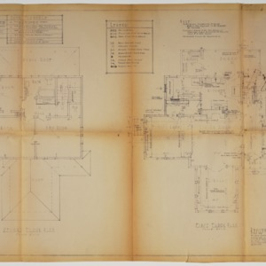 First floor plan and second floor plan