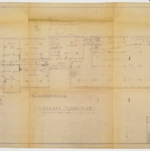 Second floor plan and wiring plan