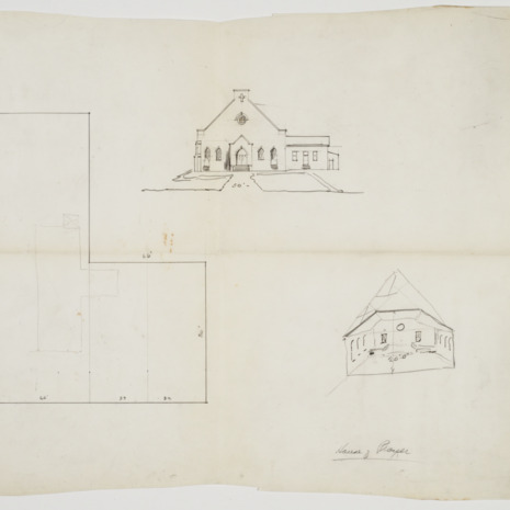 Floor plan and façade sketch