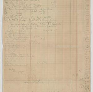 Estimate sheet