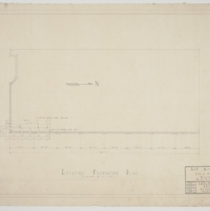 Existing foundation plan