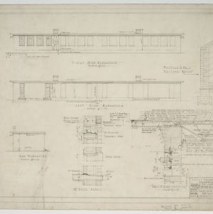 Elevations and sectional details