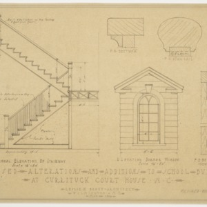 Stairwell and Window Elevations; Miscellaneous Sections