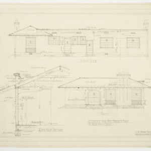 Front and Right Side Elevations, Main Section