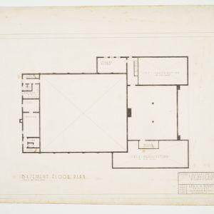 Basement Floor Plan, Defence Recreation Center for White Men