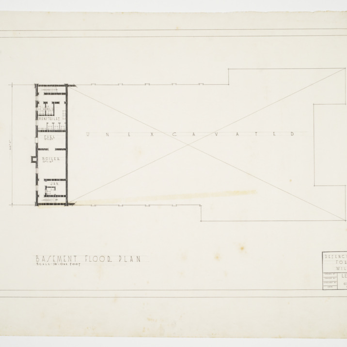 Basement Floor Plan, Defence Recreation Center for Negro Men