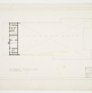 Basement Floor Plan, Defence Recreation Center for Negro Men