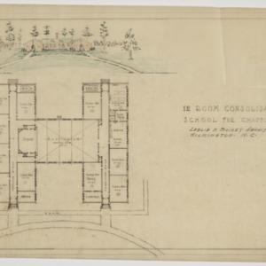 Floor plan and rendering
