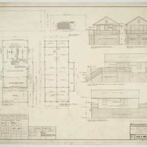 Floor plan, foundation plan, elevations, and schedules