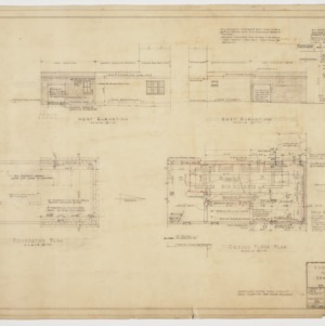 Annex elevations, floor plans and sectional elevation