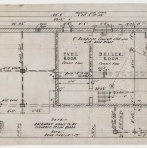 Basement floor plan fragment