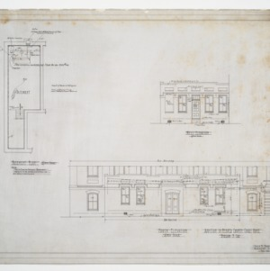 Basement Plan, North Elevation and West Elevation