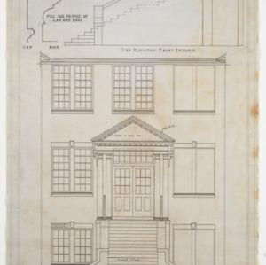 "1/2"" Scale Drawing of Front Entrance"