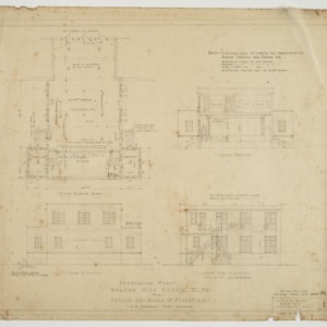 Elevations and first floor plan