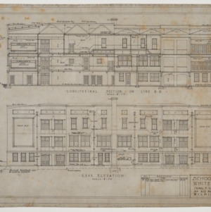 Rear elevation and sectional elevation