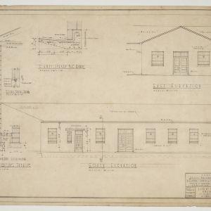Elevations for brick mason's shop