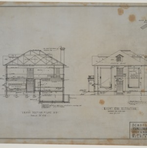 Right end elevation and sectional elevation