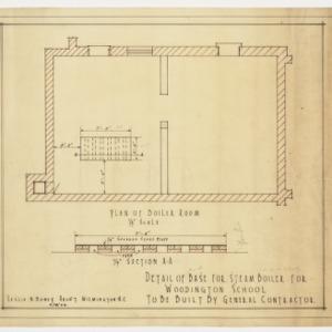 Detail of base for steam boiler