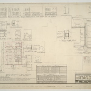Dosher Memorial Hospital, Proposed 12 bed addition -- Floor plan, schedules, and sections