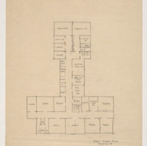 J. Arthur Dosher Memorial Hospital -- First floor plan, Scheme B