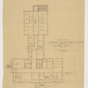 J. Arthur Dosher Memorial Hospital -- First floor plan