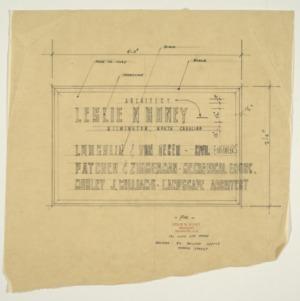Leslie N. Boney Architect sign design