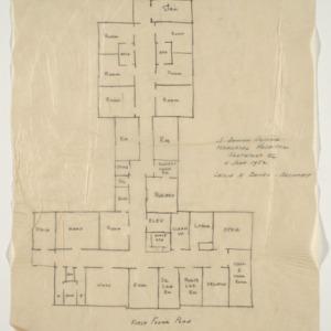 J. Arthur Dosher Memorial Hospital -- First floor plan, Scheme A