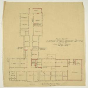 J. Arthur Dosher Memorial Hospital -- Ground floor plan