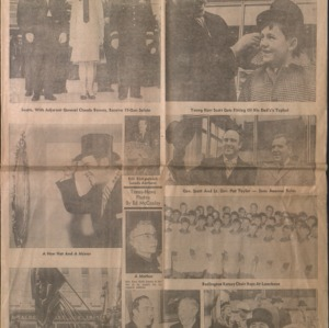 Governor Bob Scott's 1969 inauguration, articles from News & Observer and The Daily Times-News