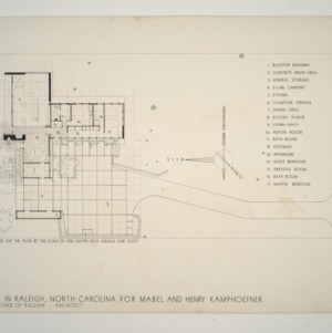 Henry L. and Mabel Kamphoefner Residence -- Plan of the House