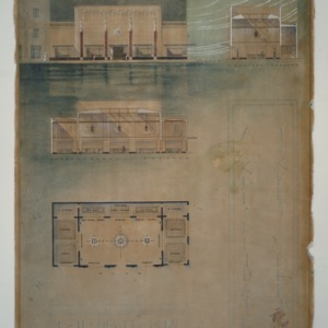 Kamphoefner Student Drawings -- D.H. Howe Prize - A Consolidated Ticket Office