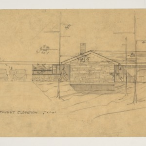Henry L. and Mabel Kamphoefner Residence -- Northwest Elevation Rendering