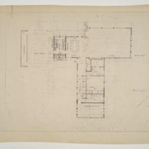 Henry L. and Mabel Kamphoefner Residence -- Floor Plan