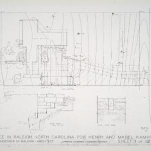 Henry L. and Mabel Kamphoefner Residence -- Plot Plan