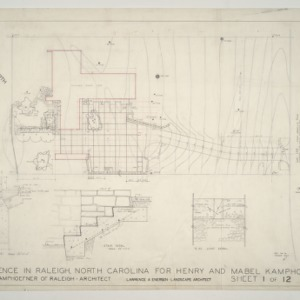 Henry L. and Mabel Kamphoefner Residence -- Plot Plan