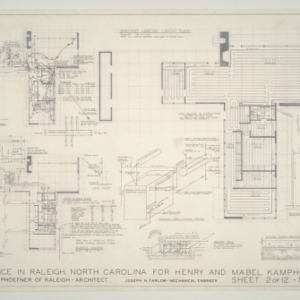 Henry L. and Mabel Kamphoefner Residence -- Plumbing, Heating, and Electrical