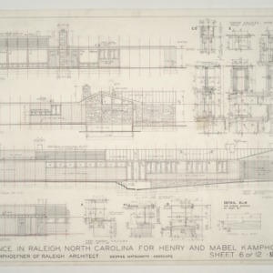 Henry L. and Mabel Kamphoefner Residence -- Elevations, Window and Door Details