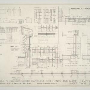 Henry L. and Mabel Kamphoefner Residence -- Window, Door, and Louvre Details