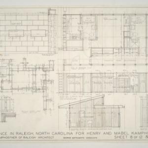 Henry L. and Mabel Kamphoefner Residence -- Wardrobe and Cabinet Details