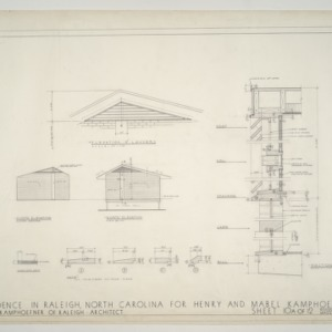 Henry L. and Mabel Kamphoefner Residence -- Master Bedroom Revisions