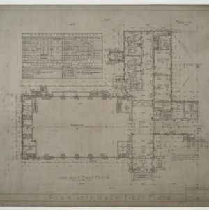 Needham B. Broughton Senior High School - One Half (Left) First Floor Plan