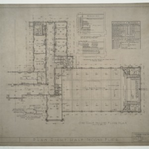 Needham B. Broughton Senior High School - One Half (Right) Second Floor Plan