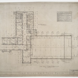 Right half third floor plan