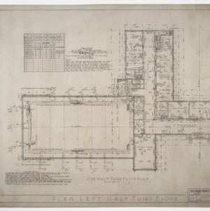 Left half third floor plan