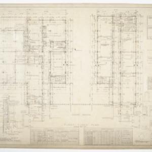 Needham B. Broughton Senior High School, Addition - First Floor Plan, Details and Schedules