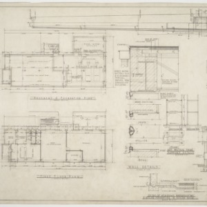 Administration building floor plans, water tank details and chimney elevations