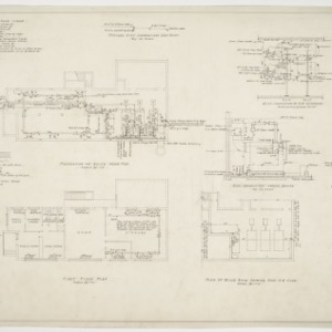 Administration building heating plan and boiler plan