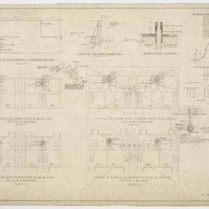 Maintenance and typical unit plumbing plan and pipe details